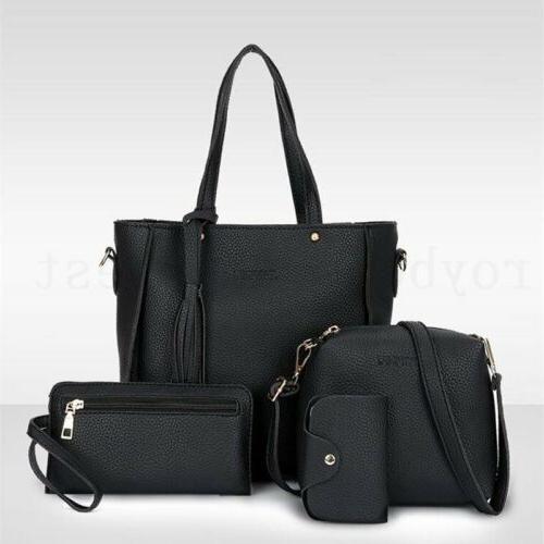 4pcs/set Handbag Tote Satchel