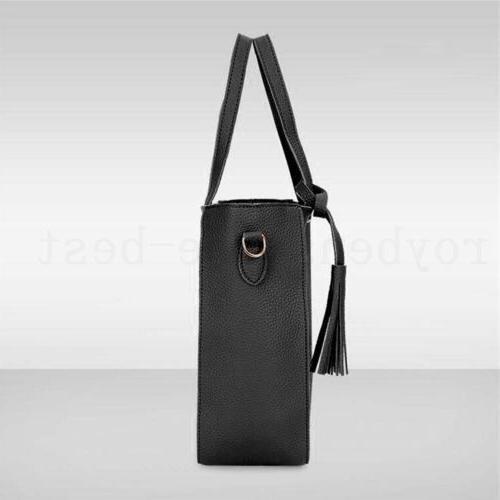 4pcs/set Women Ladies Handbag Tote Purse Satchel Messenger Bags