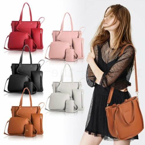 4pcs/set Handbag Tote Satchel Messenger