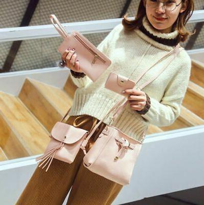 4PCS/Set Women Tote Bag Handbag Purse Messenger Bags