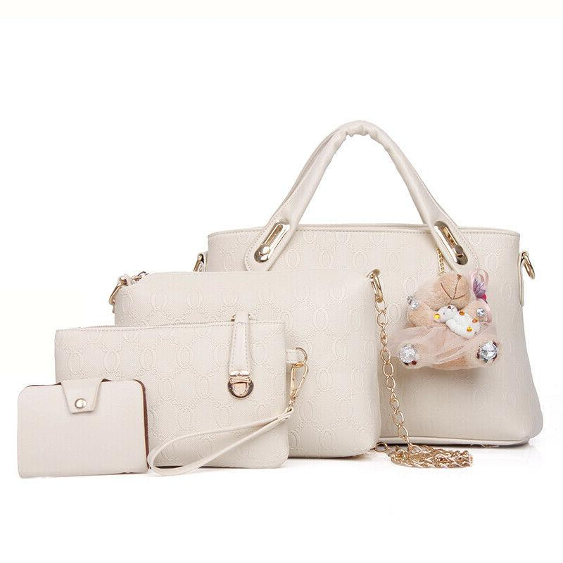 5Pcs/Set Women Lady Handbags Shoulder Tote Purse