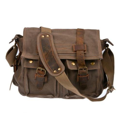 Bag School Messenger Shoulder Bag Men's Vintage Crossbody Sa