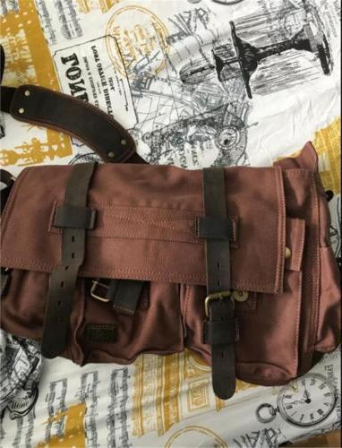 Bag School Messenger Shoulder Bag Satchel Canvas