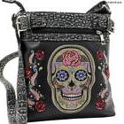 BlackSugar Skull Concealed Carry Crossbody/ Messenger Bag/Pu