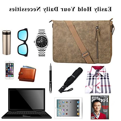 Laptop Messenger Bag inch and Women, and Waterproof Mixed Shoulder Bag Laptop Bag, Tablet Business School