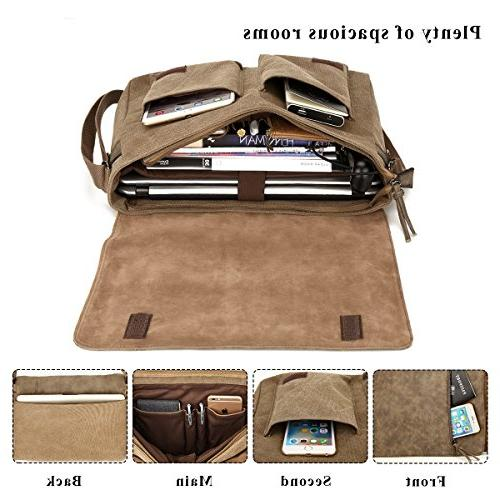 Laptop Messenger Bag inch for Women, and Waterproof Mixed Crossbody Bag