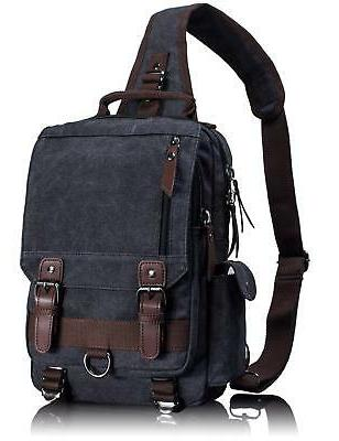 Leaper Canvas Message Sling Bag Outdoor Cross Body Bag Messe
