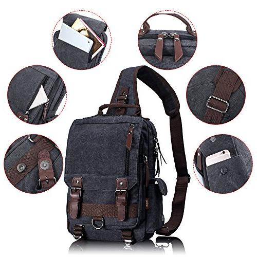 Leaper Canvas Messenger Sling Bag Bag L