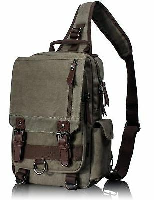 Leaper Cross Body Messenger Bag Shoulder Backpack Travel Ruc