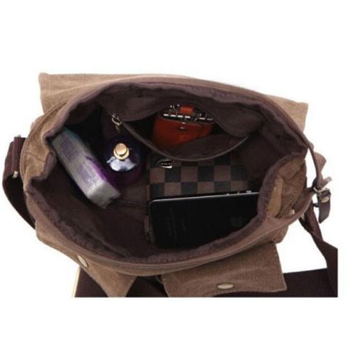 Men's Cross Bag Shoulder Bags School Satchel Vintage