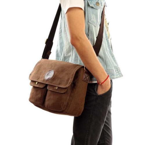 Men's Canvas Body Bag Bags School Satchel