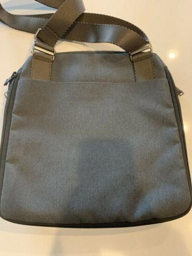 TUMI Grey Flap Messenger Bag