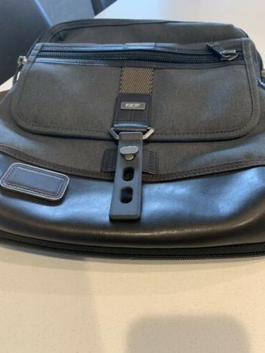 TUMI Alpha Grey Zip Flap Crossbody Messenger