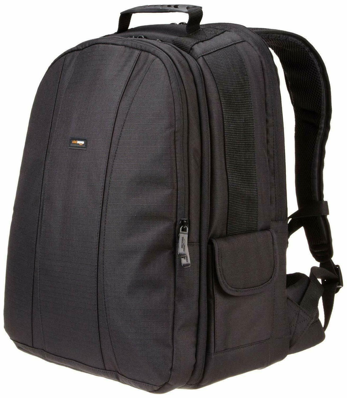 amazonbasics dslr and laptop backpack orange interior