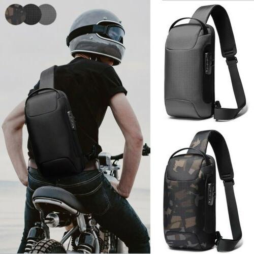 anti theft sling backpack men s chest