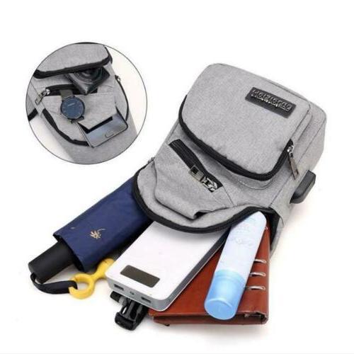Backpack Men Bag Outdoor Accessory Pockets Sling Bags