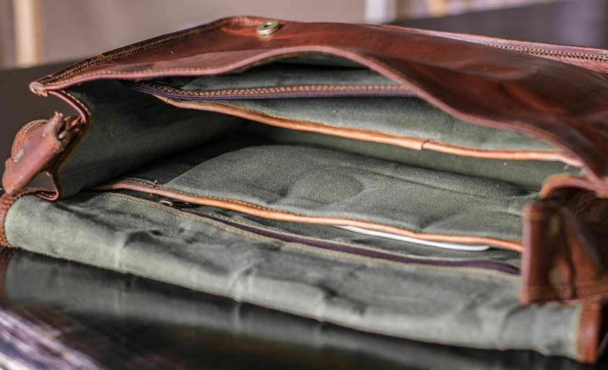 Bag Leather Vintage Men Messenger S Briefcase Laptop New