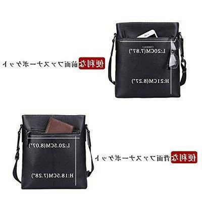 Banuce Men's Shoulder Bag Genuine Leather