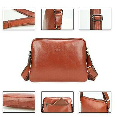 Banuce Bannus shoulder men's messenger leather bag diagonall
