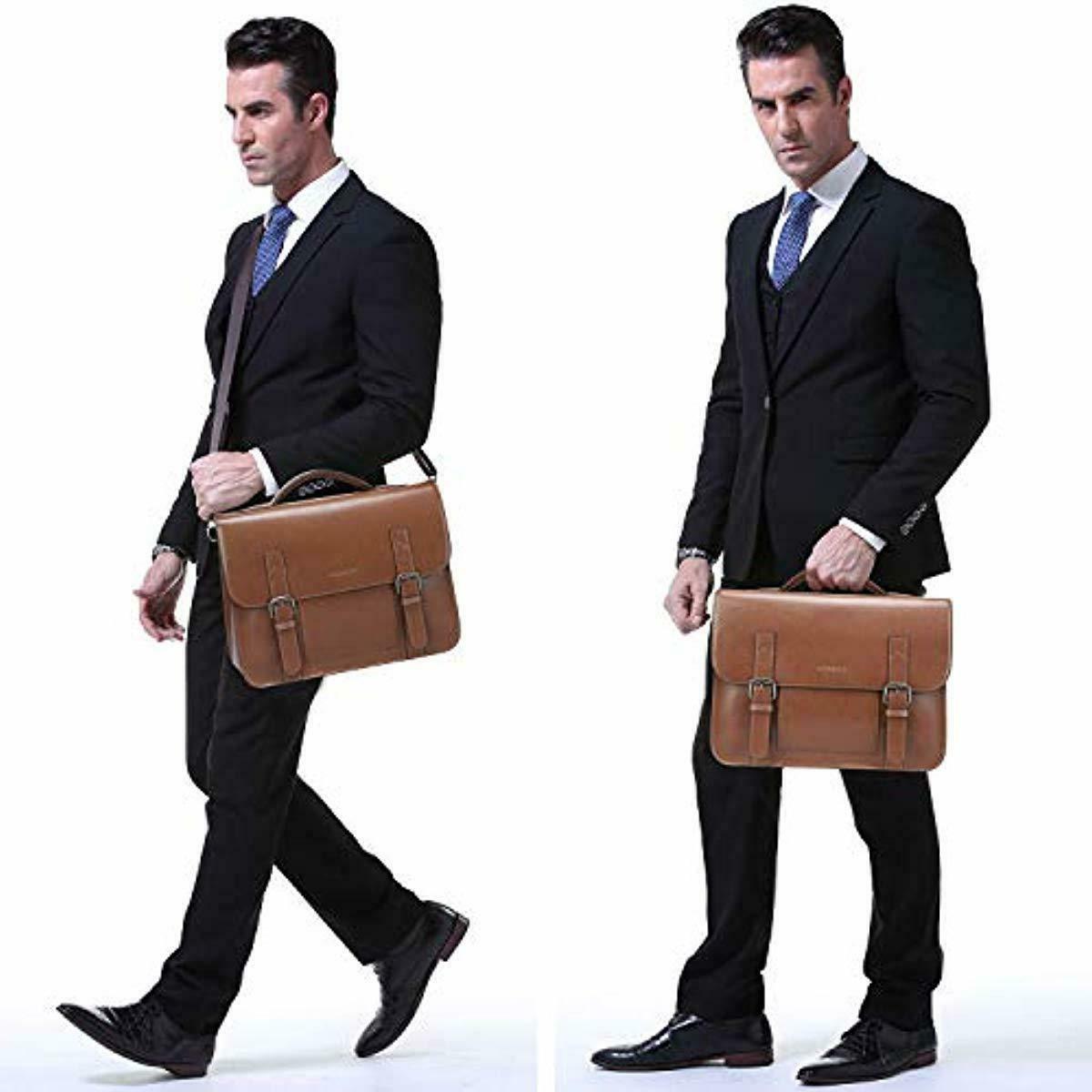 Banuce Vintage Messenger Inch Laptop Briefcase Men Ha