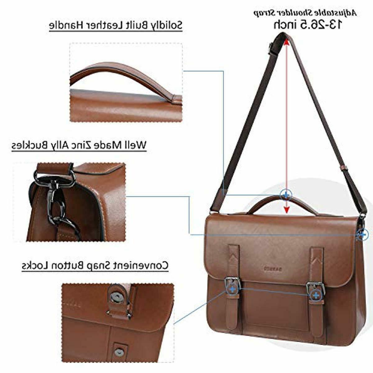 Banuce Vintage Genuine Messenger Bag 13 Inch Laptop Briefcase Ha