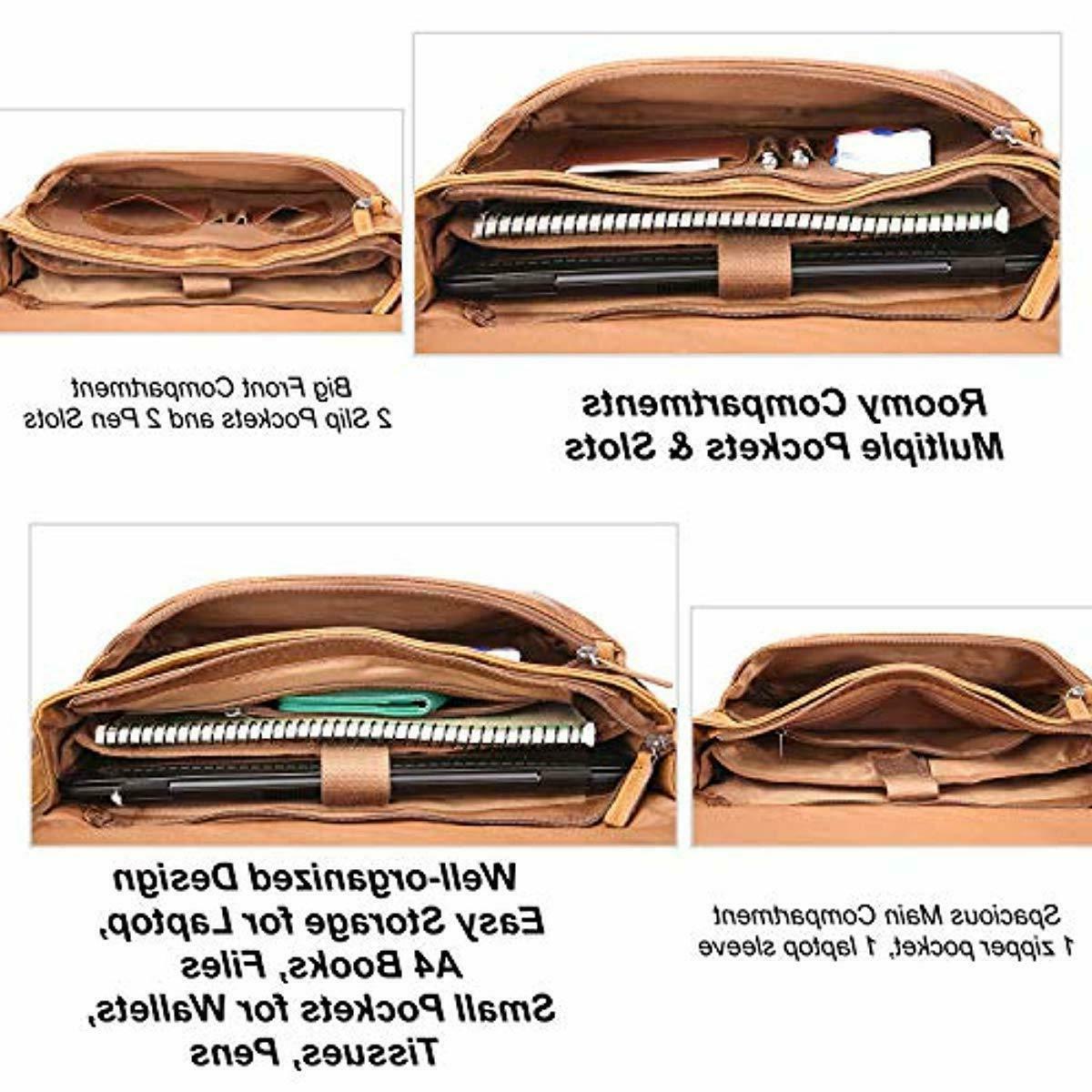 Banuce Grains Italian Leather Bag for Shoulder S