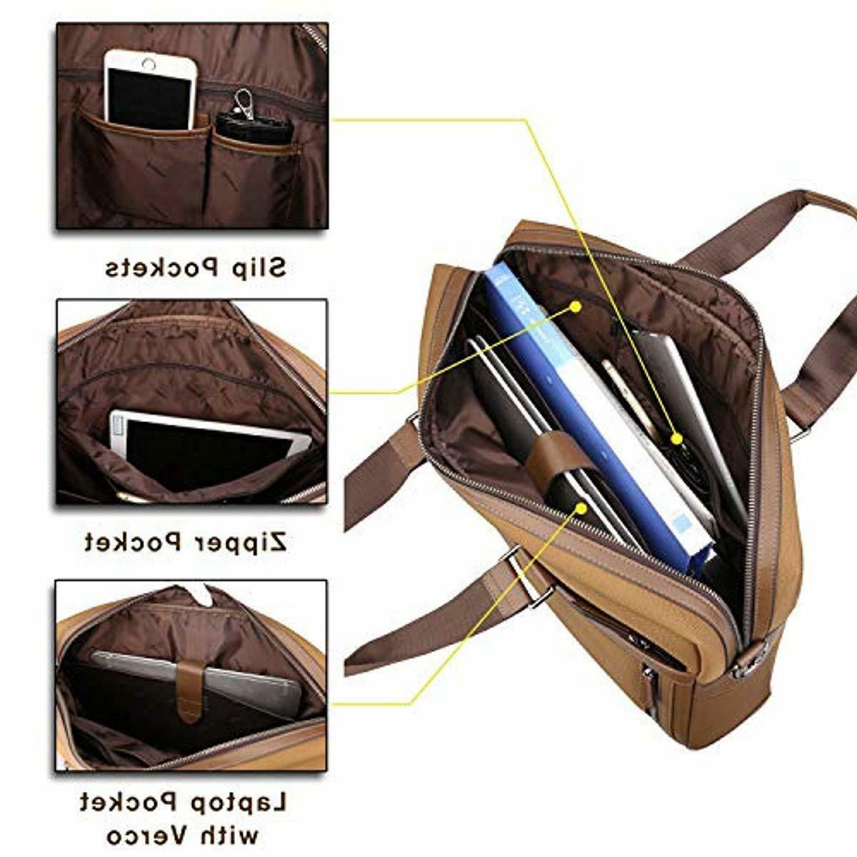 Banuce Nylon Messenger Bag for Men 15.6 inch Business Work Tot