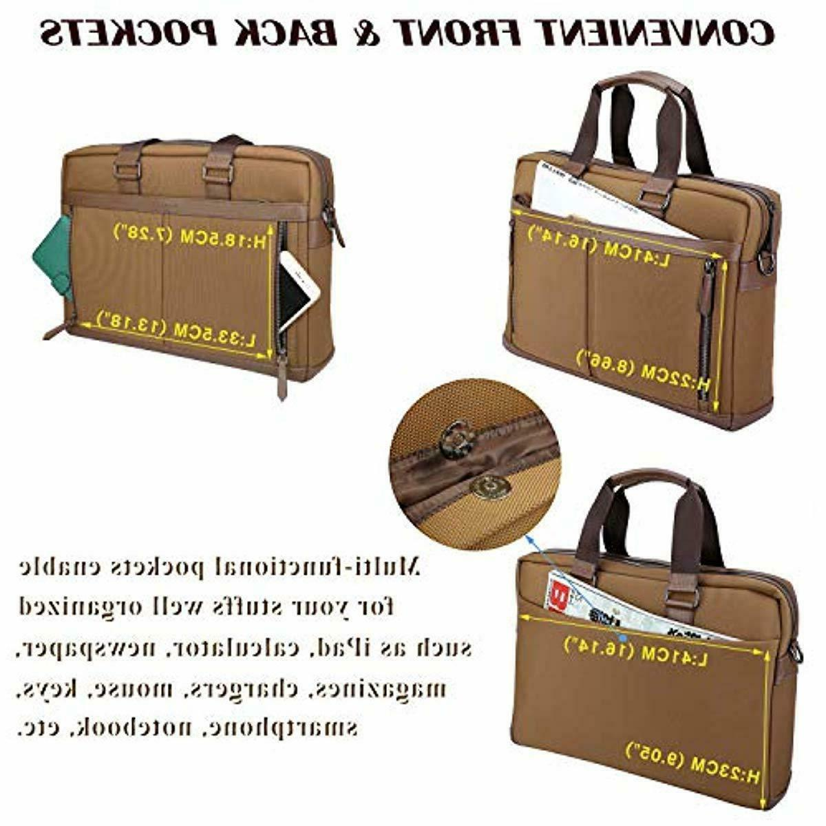 Banuce Waterproof Laptop Messenger Bag 15.6 Business Work
