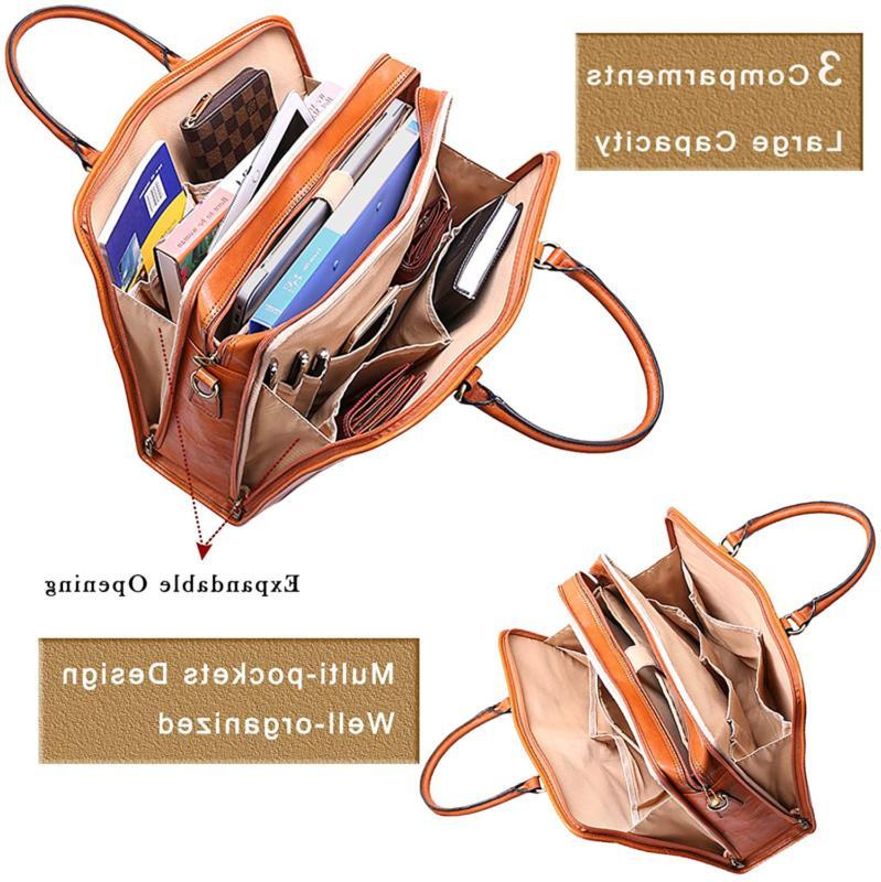 Banuce Women'S Leather Satchel Bag Laptop ...