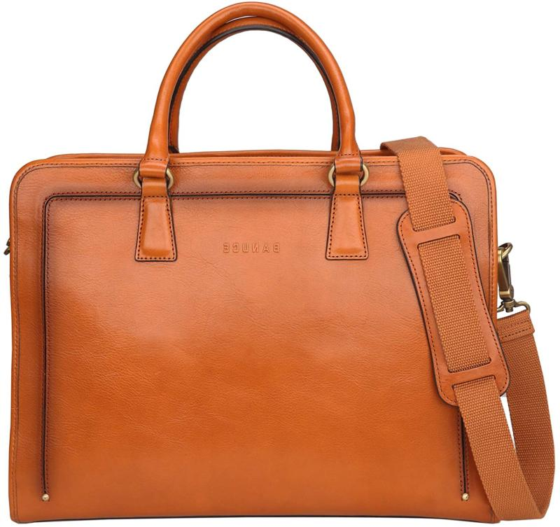 banuce women s full grains leather briefcase