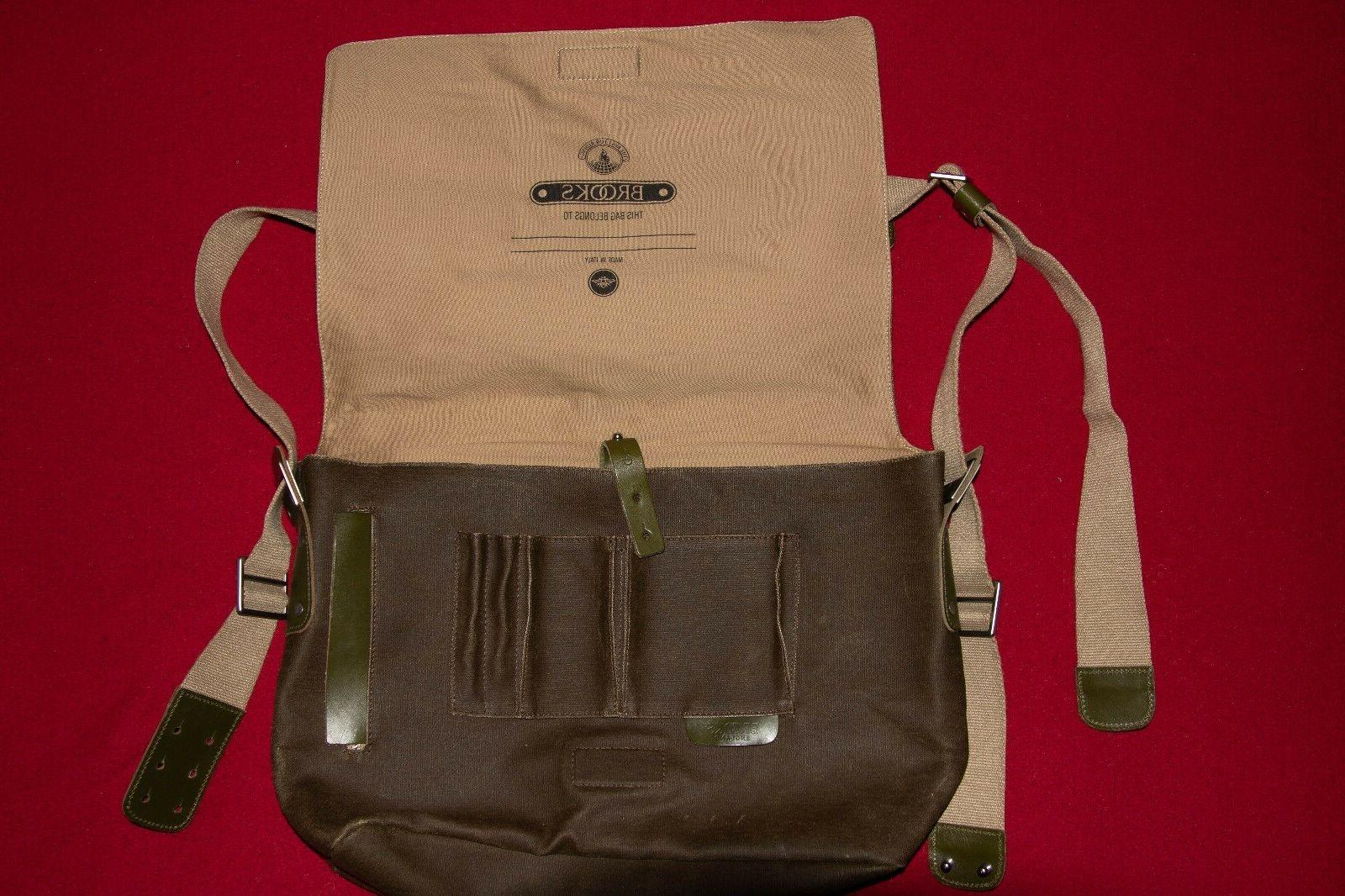 Brooks Canvas Cycling Messenger Made Italy