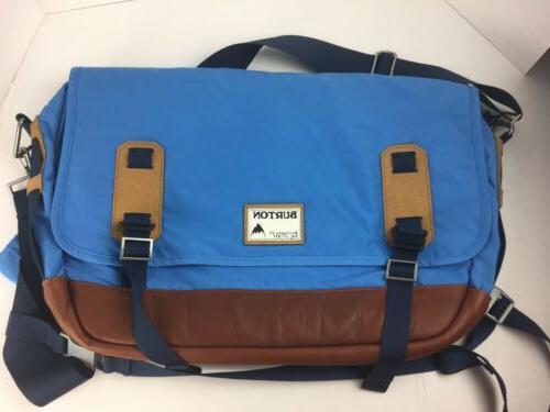blue nylon messenger shoulder bag laptop new