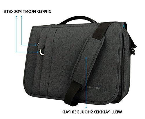 KROSER Bag Water-Repellent Case Business Shoulder Business/College/Men/Women - Charcoal