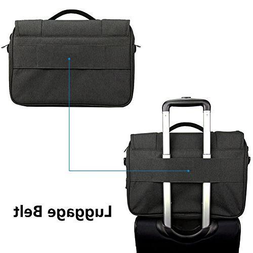 KROSER Briefcase Laptop Bag 16 Bag Case Business Shoulder Briefcase with RFID Business/College/Men/Women - Charcoal