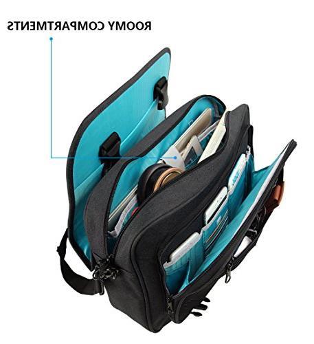 KROSER Bag 16 Laptop Bag Flapover Computer Case Shoulder with Business/College/Men/Women