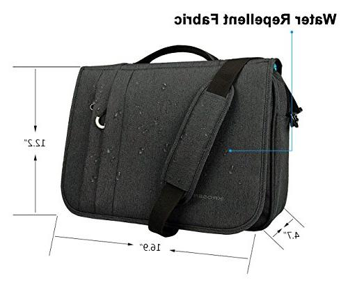 Bag Laptop Bag Flapover Case with RFID Business/College/Men/Women Charcoal Black