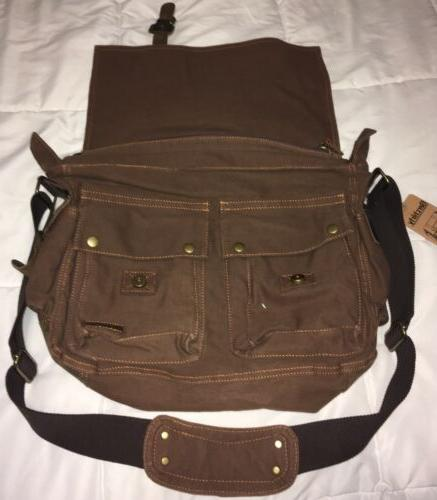 Berchirly Brown Leather Bag New