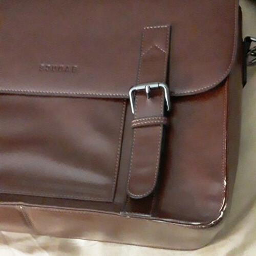 Banuce Faux Leather Messenger Bag