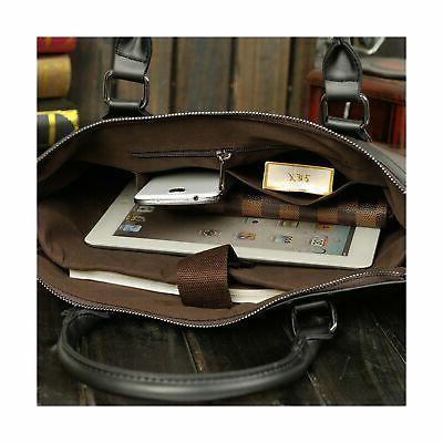 Berchirly Business Bag Briefcase Detachable Strap