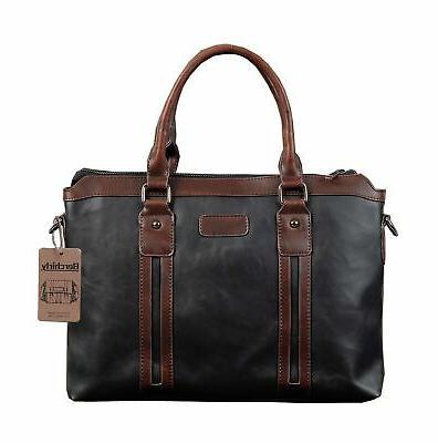 business laptop messenger bag briefcase detachable shoulder
