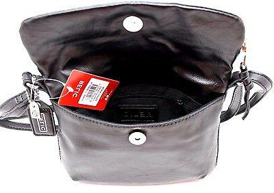 Relic by Fossil Cross Body Messenger Bag Black,Brown Purse