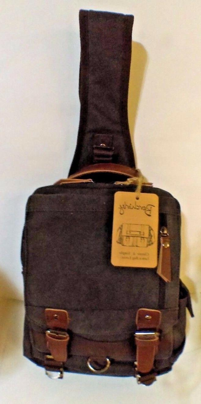 canvas crossbody messenger bag one strap sling