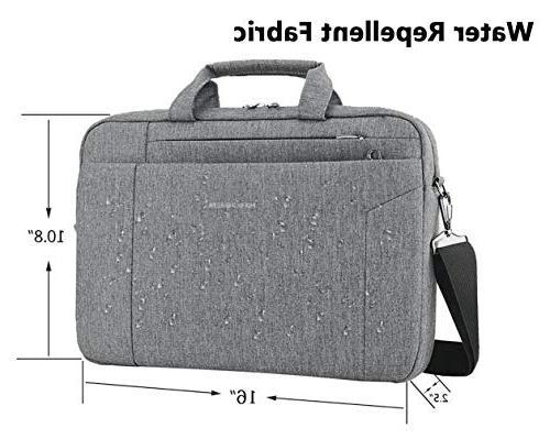 KROSER Inch Shoulder Bag Water Repellent Laptop Bag Satchel Tablet Bussiness Carrying for Women and