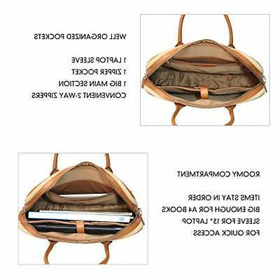 Banuce Canvas Messenger Bag 14 Inch for Shoulder