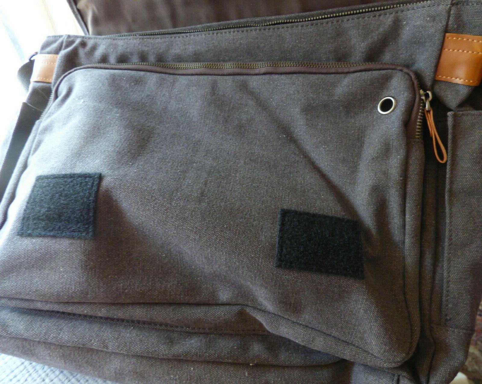Estarer Canvas Messenger Bag 15.5 inch