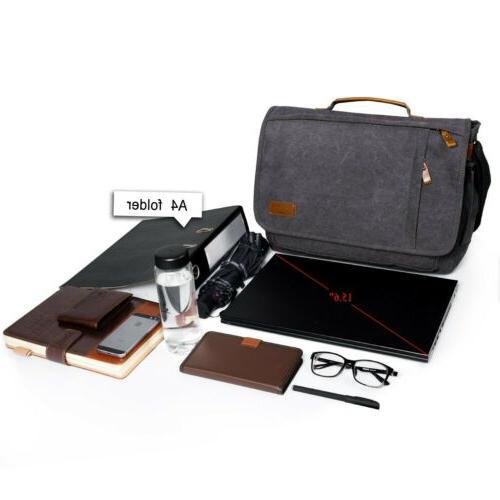 Estarer Canvas Messenger Bag 15.6