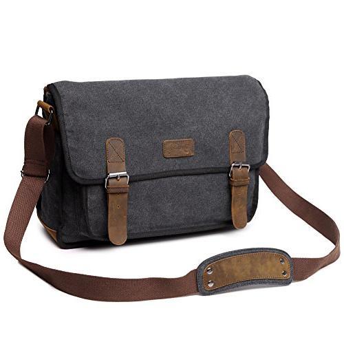 Canvas Bag For Men, Berchirly Military Crossbody 15.6 Laptop