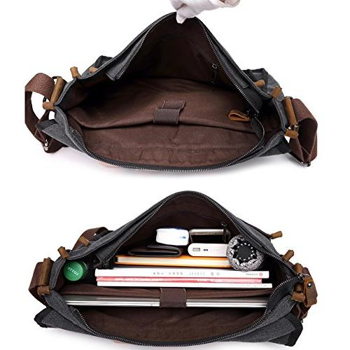 Canvas Shoulder For Berchirly Military Tactical Field Crossbody Sling 15.6 Laptop