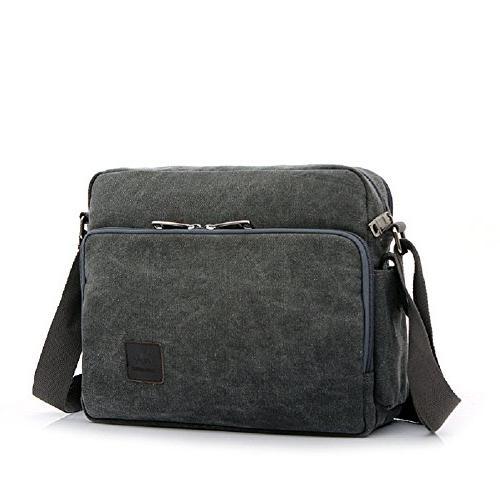 canvas shoulder bag men multifunction