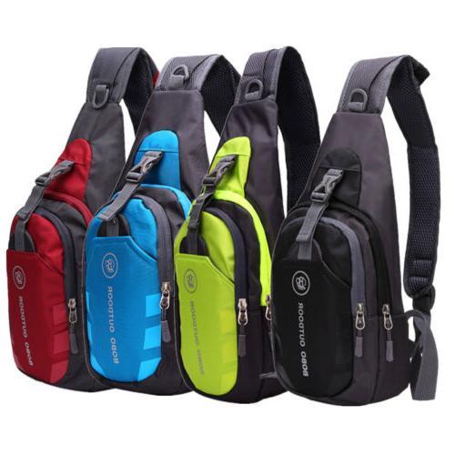 Men Sports Canvas Sling Bag Chest Messenger Shoulder